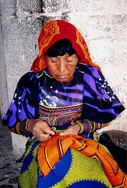 Kuna Woman sewing