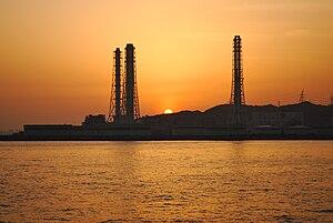 kurihama port from ferry.