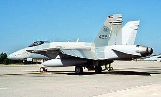 Kuwait Air Force - A Kuwaiti F/A-18C Hornet in 1993