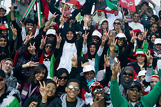 Demographics of Kuwait - Kuwaiti youth celebrating Kuwait's independence and liberation, 2011