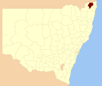 Kyogle Council - Location in New South Wales