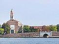L'église et le pont de San Nicolo (Lido de Venise) (10137997536).jpg