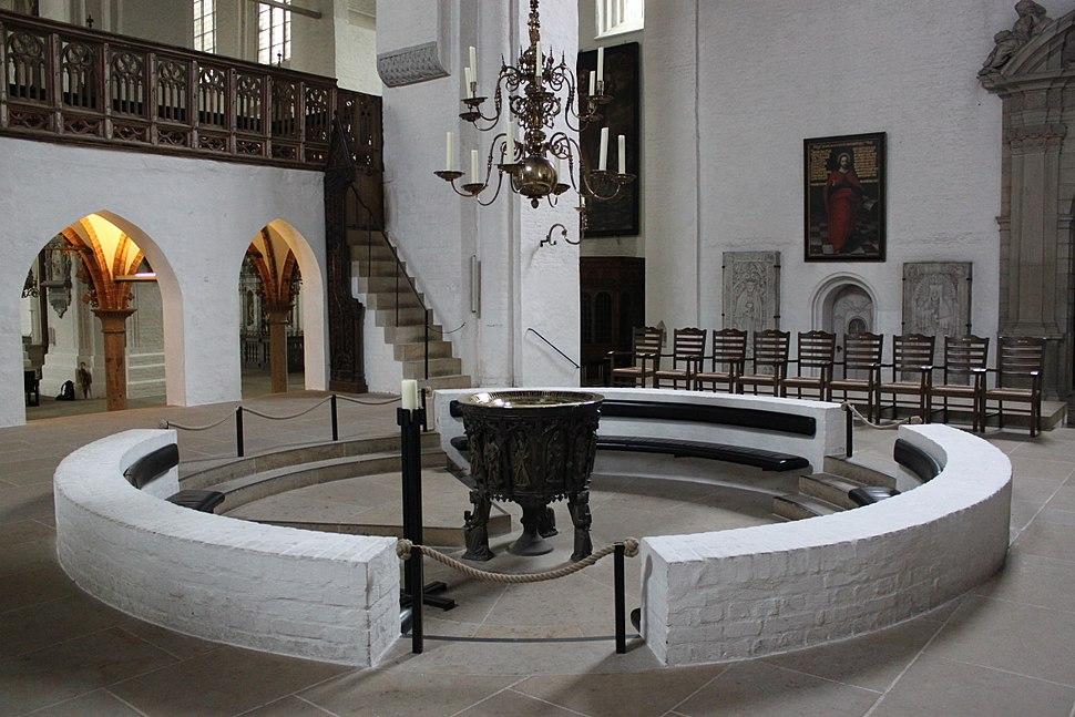 Lübeck Cathedral baptismal font 1