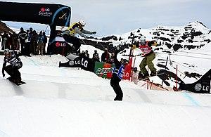 Neuquén Province - A snowboarder in San Martín de los Andes.