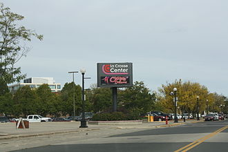 La Crosse Center - Sign and parking lot