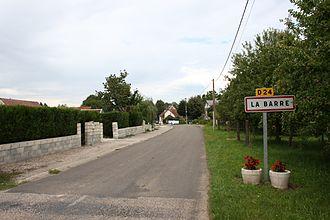 La Barre, Haute-Saône - Southwestern entrance to La Barre on D24 road