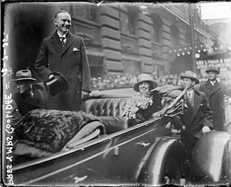 La Salle Hotel - President Calvin Coolidge at the hotel in 1925