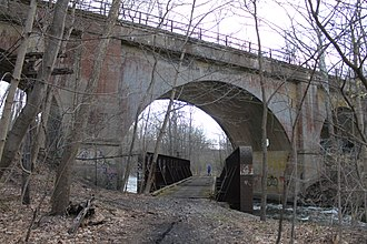 Lackawanna Old Road - Image: Lackawanna Old Road bridge over Paulinskill