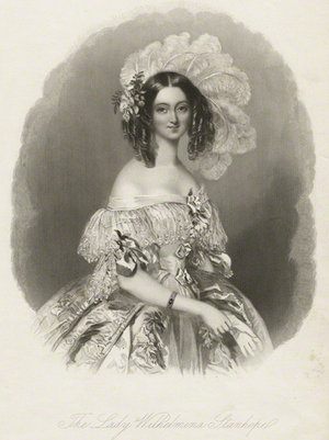 Wilhelmina Powlett, Duchess of Cleveland - Image: Lady Wilhelmina Stanhope 1838 after Alfred Edward Chalon
