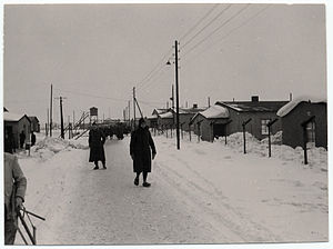French prisoners of war in World War II - View of a German prison camp, Stalag VIII-A, in Görlitz