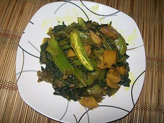 Brassica juncea - Fried mustard green dish