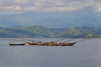 Lake Kivu - Fishing boats on Lake Kivu, 2009