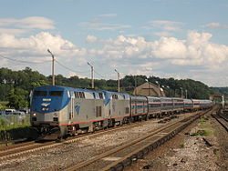 Lake Shore Limited Train 49 on 08 12 08 enters Croton Harmon.jpg