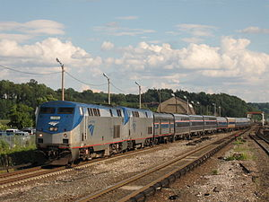 Amtrak Train #49, the Lake Shore Limited, pull...