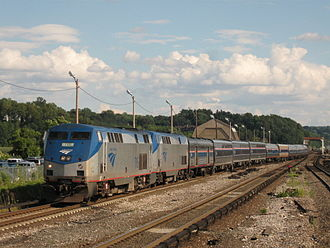 Lake Shore Limited - Image: Lake Shore Limited Train 49 on 08 12 08 enters Croton Harmon