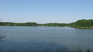Blount Township, Vermilion County, Illinois - Lake at Kennekuk County Park, in the western part of the township
