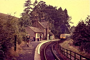 Lambley railway station - September 1973