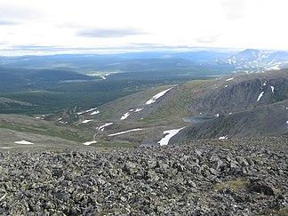 Landschaft im nördlichen Teil des Uralgebirges (Autonomer Kreis der Chanten und Mansen)