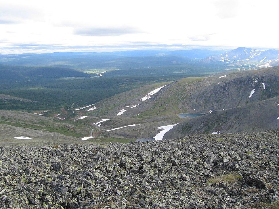 Landscape view in Circumpolar Urals