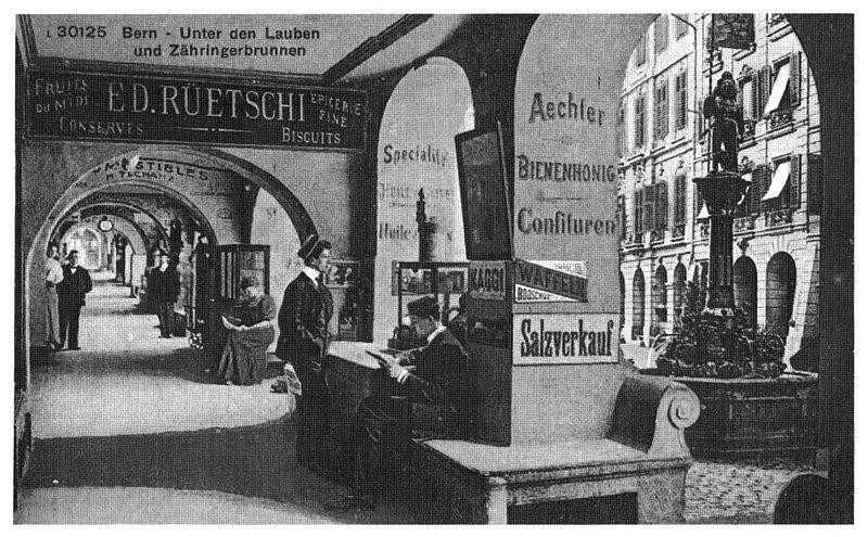 File:Lauben an der Kramgasse, Bern um 1900.jpg