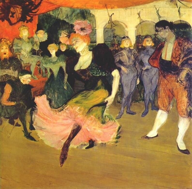 Lautrec marcelle lender doing the bolero in %27chilperic%27 1895