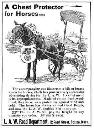 League of American Bicyclists - League of American Wheelman - Horse bibs - Good Roads, 1897