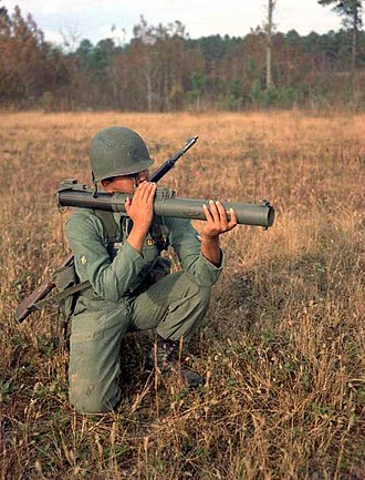 M72 LAW - M72 demonstration at Fort Benning, Georgia in the 1960s