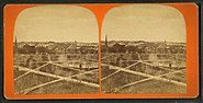 Lawrence common, western view, Sept. 15, '77, from Robert N. Dennis collection of stereoscopic views