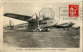 LAPE - A LAPE Douglas DC-2 behind the plane in the foreground at Paris – Le Bourget Airport