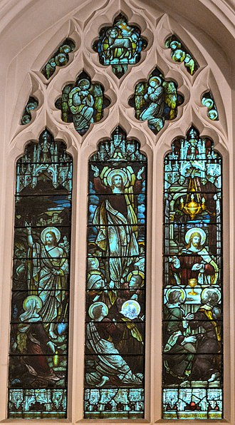 Church of St Mary & St Nicholas, Leatherhead - Image: Leatherhead, St Mary & St Nicholas, East window