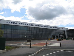 Leeds Bradford International Airport terminal, left.jpg