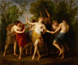 Andries Cornelis Lens - Dance of the Maenads