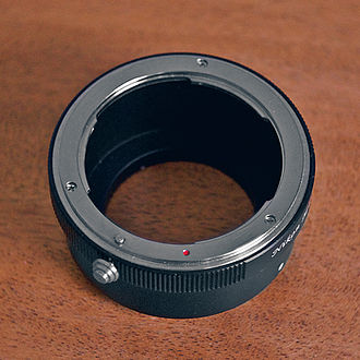 Lens mount - This lens adapter is a passive adapter designed for mounting a Nikon F mount lens to a Micro Four Thirds camera.