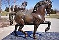 Leonardo da Vinci drew the form of a powerful horse cast in bronze 450 years later.jpg