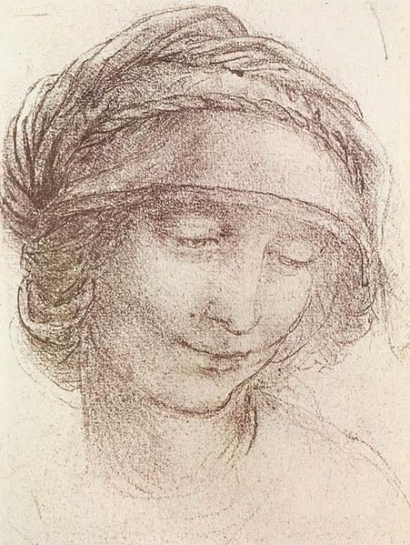 File:Leonardo da vinci, Head of a woman 01.jpg