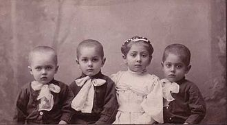 Serge Lifar - Serge Lifar with siblings Leonid, Basil, Evgenia