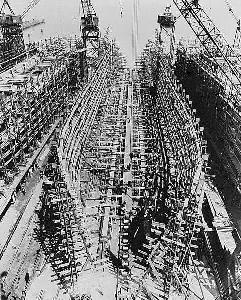 File Liberty Ship Construction 03 Keel Plates Jpg