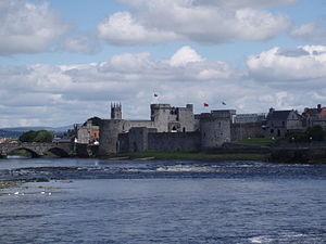 Munster - River Shannon and King John's Castle, Limerick City