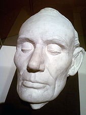 Life cast of Lincoln, spring 1860 by Leonard Volk.