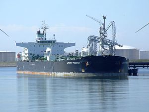 Liteyny Prospect IMO 9256078 at the Calland canal, Port of Rotterdam, Holland 19-Jul-2007.jpg