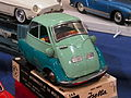 Litho tin toy two tone green BMW Isetta, automobiles of the world series no 588 pic1.JPG