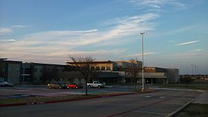 Little Elm High School - Little Elm front office and fine arts wing before renovations
