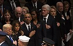 Living Former U.S. Presidents at President George Bush's funeral.jpg