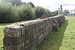 Llanthony Priory, Remains of Precinct Wall South of Outer Gatehouse.jpg