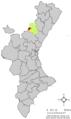 Localització de la Pobla d'Arenós respecte del País Valencià.png