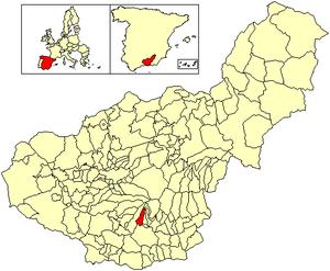 Cáñar - Image: Location Cáñar