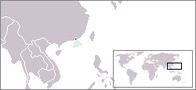 A map showing the location of Hong Kong