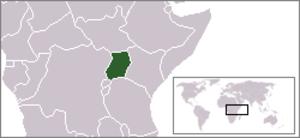 Uganda Protectorate - Image: Location Uganda