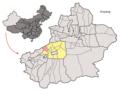 Location of Uqturpan within Xinjiang (China).png