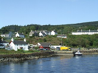 Lochaline - Image: Lochaline from ferry